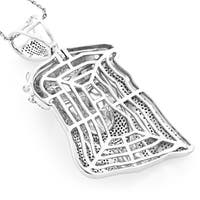Luxurman Hip Hop Jewelry 10k Gold 1 1/2ct TDW Diamond Jesus Face Necklace