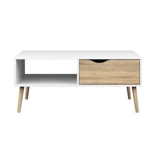 Diana White Oak 1-drawer Coffee Table