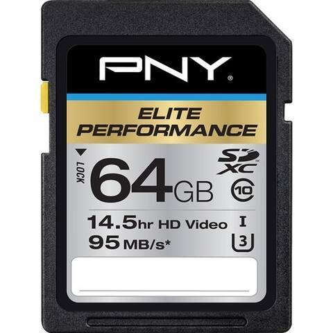 PNY Elite Performance 64 GB Class 10/UHS-I (U3) SDXC