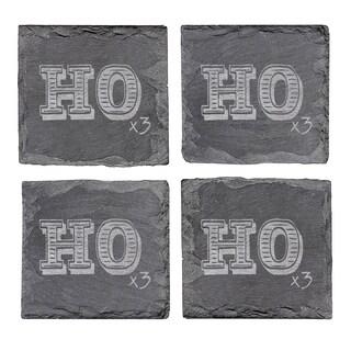 Ho Ho Ho Slate Coasters (Set of 4)