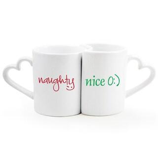 Naughty/ Nice Coffee Mug 2-piece Set