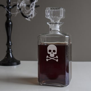 Crossbones and Skull Spirits Decanter