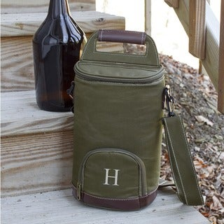 Personalized Green Insulated Growler Cooler (More options available)