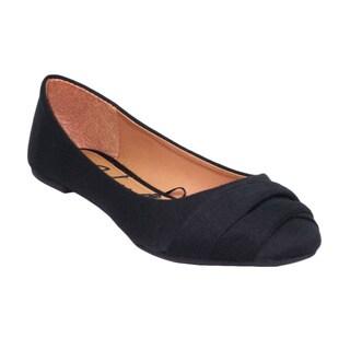 Blue Women's Black Jersey 'Beckie' Ballerina Flats