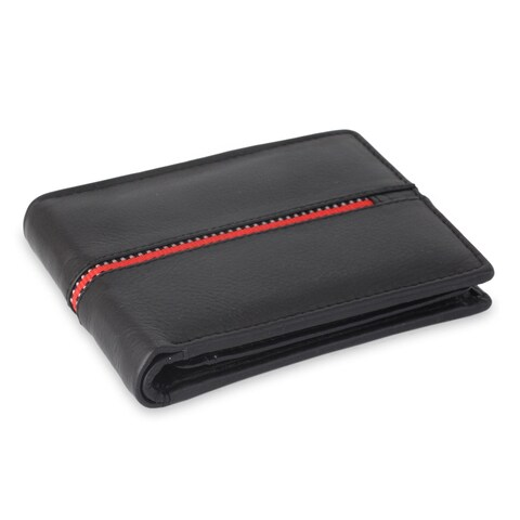 Handmade Men's Leather 'Suave in Red' Wallet (India)