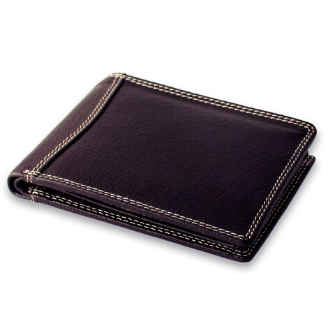 Handmade Men's Leather 'Suave Brown' Wallet (India)
