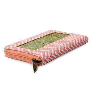 Handmade Natural Fibers 'Mexican Pink' Wallet (Mexico)