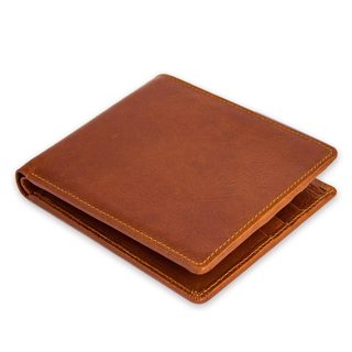 Handmade Leather Men's 'Brown Credits' Wallet (Thailand)