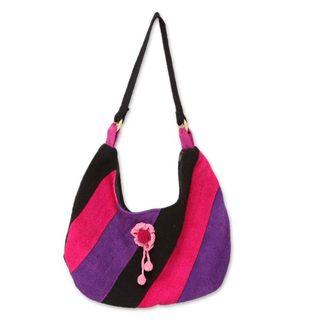 Handmade Wool 'Miraflores Miss' Tote Handbag (Peru)