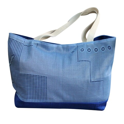 Handmade Cotton 'Bluebonnet' Shoulder Bag (Brazil)