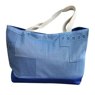 Cotton 'Bluebonnet' Shoulder Bag (Brazil)