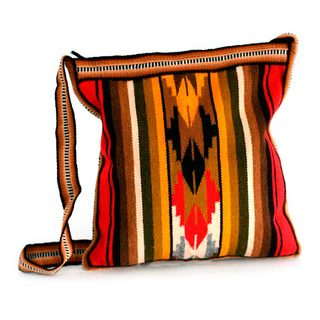 Handcrafted Alpaca 'Andean Warmth' Shoulder Bag (Peru)