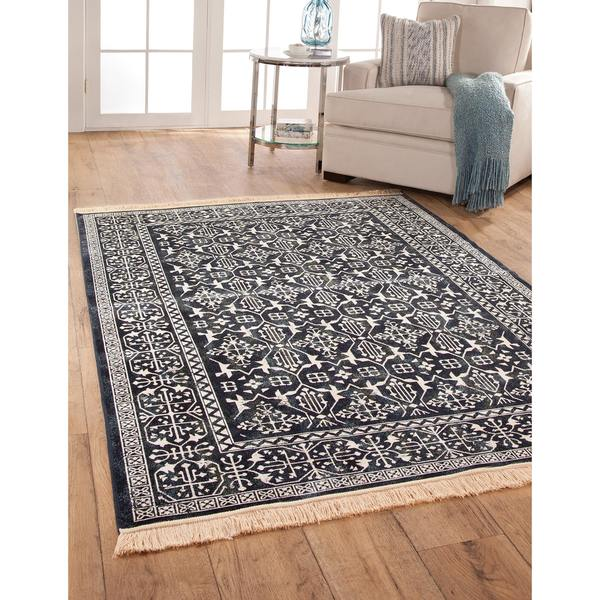 "Charlton Navy Area Rug by Greyson Living - 5'3"" x 7'9"""