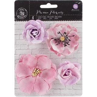 Watercolor Mulberry Paper FlowersAmethyst, 2in To 3in 4/Pkg