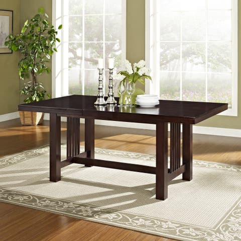 60-inch Cappuccino Mission Trestle Base Dining Table