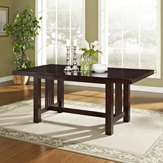 Contemporary Cappuccino Wood Dining Table