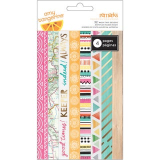 Amy Tan Rise & Shine Washi Tape Strips 6/Sheets