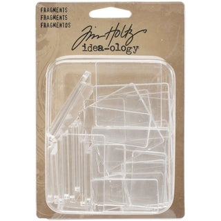 IdeaOlogy Fragments Acrylic Rectangles & Squares 34/Pkg.75inX.75in To 1.75inX1.75in