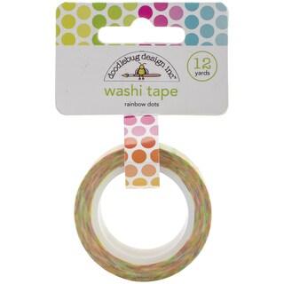 Washi Tape 15mmX12ydRainbow Dots