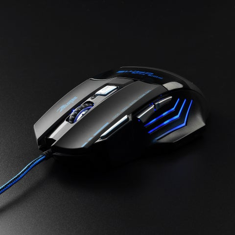 Wired High Precision Programmable Optical Gaming Mouse with 6-foot Cable