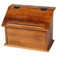 Old Style Wooden Podium Recipe Box