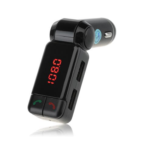 Patuoxun Bluetooth Wireless/ USB FM Transmitter Car Kit with Hands-Free Calling