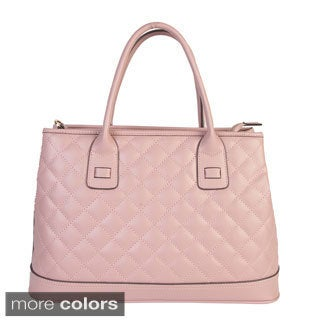 Mllecoco Genuine Leather Quilted Texture Fashion Genuine Leather Tote Bag - L|https://ak1.ostkcdn.com/images/products/10155086/P17284621.jpg?_ostk_perf_=percv&impolicy=medium