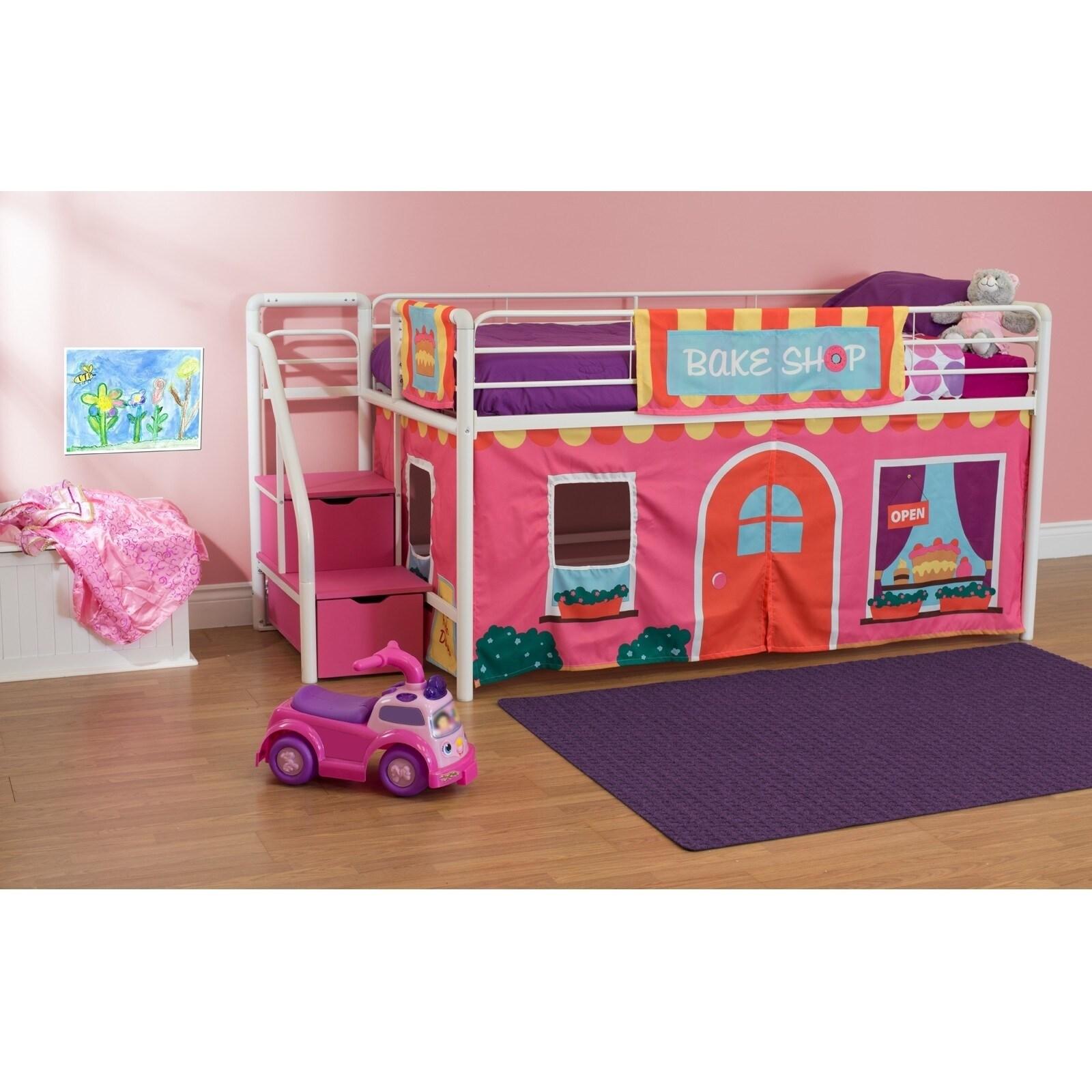 DHP Loft Bed Curtain Set (Princess Castle Curtain Set), P...