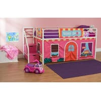 DHP Kid's Loft Bed Play Tent Curtain Set