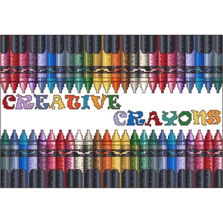Creative Crayons Counted Cross Stitch Kit12inX8.25in 16 Count