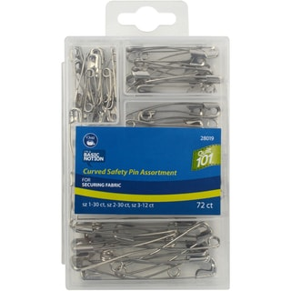 Curved Safety Pin Assortment72/Pkg