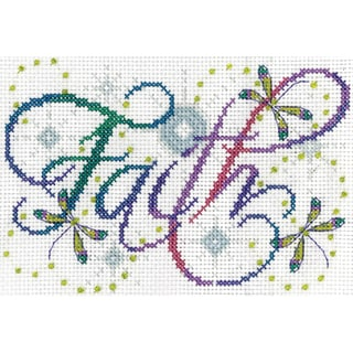 Faith Counted Cross Stitch Kit5inX7in 14 Count