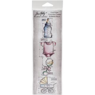 Tim Holtz Mini Blueprints Strip Cling Rubber Stamps 3inX10inBaby|https://ak1.ostkcdn.com/images/products/10155320/P17284886.jpg?impolicy=medium