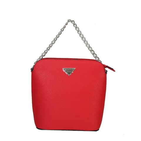 Mllecoco Genuine Leather Solid Color Crossbody Messenger Handbag
