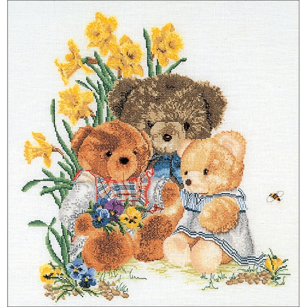 Teddy Bears On Aida Counted Cross Stitch Kit16inX18in 16 Count