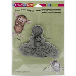 Stampendous House Mouse Cling Rubber Stamp 4.5inx5.5in SheetTee Time