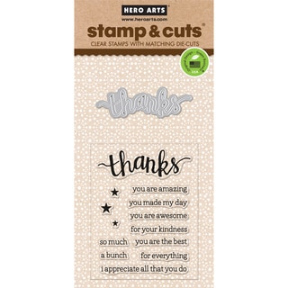 Hero Arts Stamp & CutsThanks