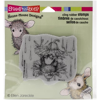 Stampendous House Mouse Cling Rubber Stamp 3.5inX4in SheetRain Flower