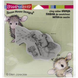 Stampendous House Mouse Cling Rubber Stamp 3.5inX4in SheetMake A Wish