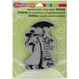 Stampendous Cling Rubber Stamp 5.5inX4.5in SheetRain Dance|https://ak1.ostkcdn.com/images/products/10155502/P17284996.jpg?impolicy=medium