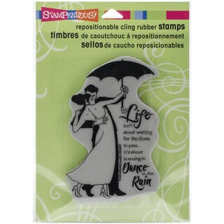Stampendous Cling Rubber Stamp 5.5inX4.5in SheetRain Dance
