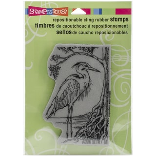 Stampendous Cling Rubber Stamp 5.5inX4.5in SheetHeron