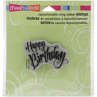 Stampendous Cling Rubber Stamp 3.5inX4in SheetPenned Birthday