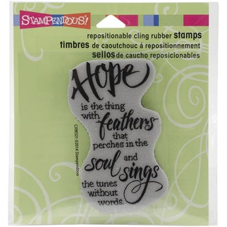 Stampendous Cling Rubber Stamp 3.5inX4in SheetHope Sings