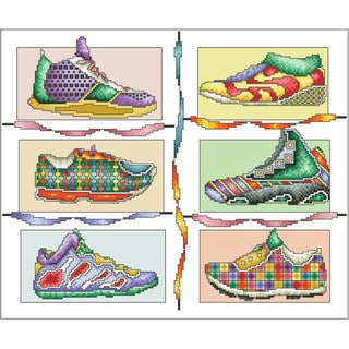 Snazzy Sneakers Counted Cross Stitch Kit12inX10in 16 Count