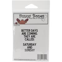 Riley & Company Funny Bones Cling Mounted Stamp 1.5inX2.25inBetter Days