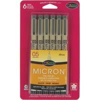 Pigma Micron Pens 05 .45mm 6/PkgBlack