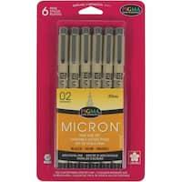Pigma Micron Pens 02 .3mm 6/PkgBlack