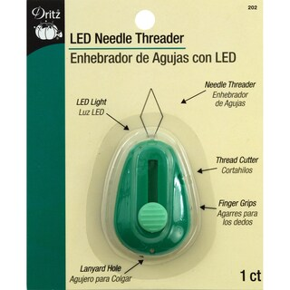 LED Lighted Needle ThreaderGreen