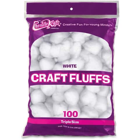 ChenilleKraft 6400 Colorfast Craft Fluffs (Pack of 100)